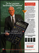 SHARP EL-506G CALCULATOR__Original 1993 Trade AD promo/ poster__BILL WALSH_49ers