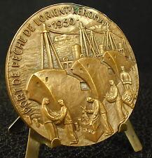 Médaille Ville d Lorient Port de Keroman bombardement 1943 retour de pêche Medal