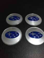 SUBARU 65mm SILVER BLUE WHEEL RIM CENTRE CAP COVER DECAL STICKER WRX LIBERTY