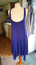 Ladies Womens Purple Drop Neck Knee Length Asymmetric Dress Sz 10 S by ASOS