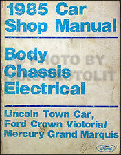 1985 Body and Electrical Shop Manual Ford Crown Victoria Grand Marquis Mercury
