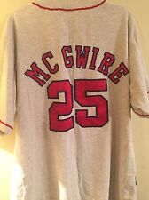 NWOT McGwire Mirage St. Louis Cardinals Flax Throwback Sewn Jersey Mens XL