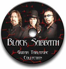52 BLACK SABBATH ROCK METAL GITARRE ETIKETTEN TABLATURE LIED BUCH SOFTWARE CD