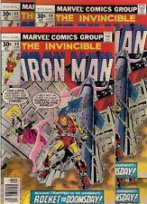 55 unread COMICS back to the 70s:  IRON MAN #96-97, 99 & 233(ANT MAN)