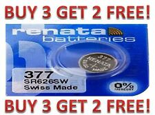 377 RENATA SR626SW SR626W WATCH BATTERIES NEW  BUY 3 GET 2 FREE!!