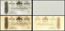 !REPLICA! 2 REPUBLIC OF POYAIS ONE DOLLAR 1821 BANKNOTES !NOT REAL!