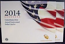 2014 US Mint Annual Uncirculated Dollar 6 Coin Set      **FREE U.S SHIPPING**