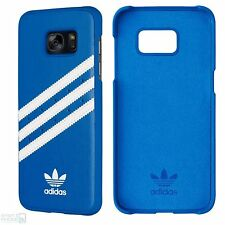 "Adidas hard back cover case Samsung Galaxy s7 Edge 5,5"" bolso funda protectora azul"