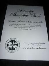Paquete De 10 Hojas de Sellos de tarjeta Kanban Superior Blanco brillante Nuevo Sellado