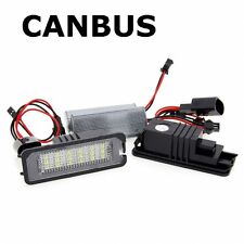 Golf mk5 mk6 EOS 6000K LED CANBUS REAR NUMBER PLATE LED UNITS SMD NO ERROR