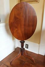American Late Federal Mahogany Tilt Top Tripod Wine Table c. 1830