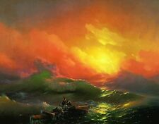 The Ninth Wave 1850 by Ivan Aivazovsky Old Masters 11x14 Paper Print