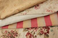 Vintage French fabrics antique material PROJECT BUNDLE silk ticking metis floral