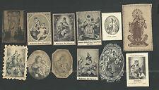 12 estampas antiguas de la Virgen del Carmen santino holy card image pieuse