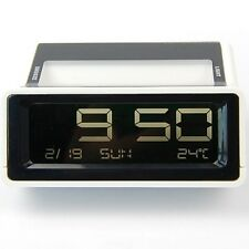 Digital LCD Display Year/Date Snooze Alarm Clock Temperature Meter Red Light