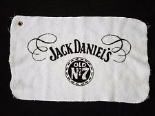 "Vintage Jack Daniels Golf Towel Old No. 7 Tennessee Whiskey White 21"" x 13"""