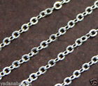 10 ft of Silver Plated Flat Cable Chain 3X2.5mm