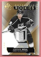 15/16 SP Game Used Gold Spectrum #135 Jordan Weal 3 Color Rookie Patch #65/99