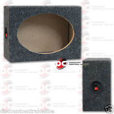 "CAR AUDIO 6"" x 9"" SPEAKER BOX ENCLOSURE WITH CARPET TEXTURE & TERMINAL CUPS"