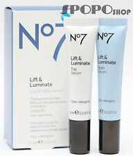 BOOTS No7 Lift & Luminate Day and Night Serum Set (2 x 15ml) 100% Authentic