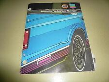 1988 NAPA Martin Senour Paint Colors - AMC Chrysler Ford GM