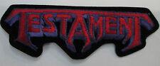 TESTAMENT COLLECTABLE RARE VINTAGE PATCH EMBROIDED 90'S METAL LIVE