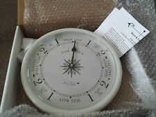 "9 1/2"" TIDE CLOCK BY WEST & CO. with box and instructions"