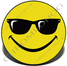 """Cool Smiley Face - 2"""" Tow Hitch Receiver Cover Insert Plug for Most Truck & SUV"""
