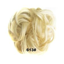 Synthetic Hair Flexible Scrunchie Wrap For Wave Curly Hair Bun Ponytail 25 Color