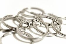 "WHOLESALE LOT 1000 KEY RINGS SPLIT RINGS KEYCHAIN 28mm 1-1/8"" D FREE SHIPPING"