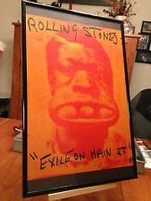 "BIG 11X17 FRAMED ROLLING STONES ""EXILE ON MAIN STREET"" LP ALBUM PROMO AD + CD!"