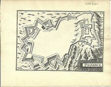 Carte antique, Pignerol (Pinerolo)