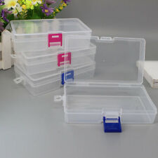Clear Transparent Plastic Lid Storage Box Collection Container Case organizer