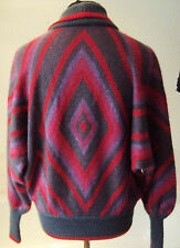 Vintage German 1980's Art Deco Style Mohair Blend- Batwing Sweater ~  L - 40""