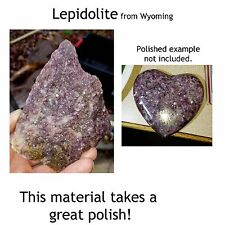 Purple LEPIDOLITE cabbing rough MICA Wyoming 1970's  BIG  tumbling - one pound