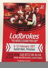 Snooker Ladbrokes World Grand Prix Flyer 2017. Signed by Michael White.