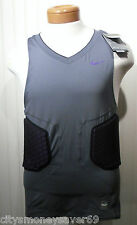 NWT Nike Pro Combat Vis Deflex Mens Basketball Shirt Top XL Charcoal/Purple $80