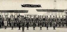 """1918 Flying Officers, Love Field, Dallas, Texas Vintage Panoramic Photograph 30"""""""