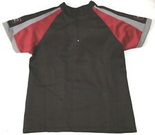 The Hunger Games 1/4 zip Training Shirt unisex sz L black/maroon district 12