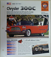 CHRYSLER 300C IMP COLLECTOR BROCHURE SPECS 1957-1957 GROUP 1, NO 47