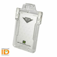 Identity Stronghold Clear RFID Secure ID Badgeholder Classic IDSH1004-001B-002