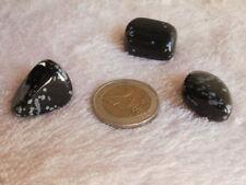 Obsidiana nevada, piedra semipreciosa ( lote de 3)
