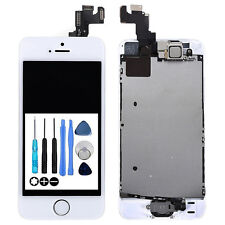 For iPhone 5S LCD Screen Digitizer Full Camera Home Button White Complete Tools