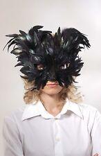Loup plumes noires paillettes noires chat noir Chat costum carnaval deguisement