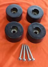 Set of 12 Very Large Rubber Feet. Size: 37mm. Diameter x 19mm. High inc. Screws
