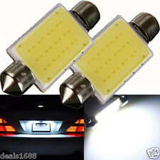 2PC 41mm Festoon COB 12 Chips DC 12V LED Car Dome Reading Lights Car Lighting