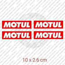 "4x MOTUL car bymper sticker motor oil Honda 3.9 x 1.1"" 10 x 2.6 cm"