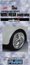 Fujimi Models 1/24 15inch Wire Mesh Silver Wide Version Wheels & Tyres(4 Wheels)