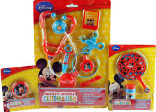 Mickey Mouse 3 Piece Toy Set - Bubble Making Wand Kit, Yo-Yo, Doctor Play Set