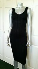 100% AUTHENTIC NWT BEBE SWEATER NECK TEXTURED  DRESS SIZE  P/S